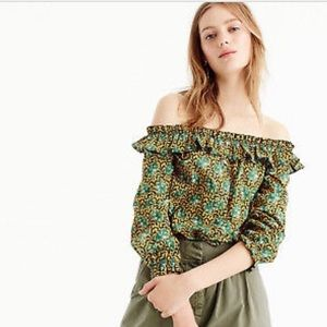 Off the shoulder ruffle blouse J. Crew